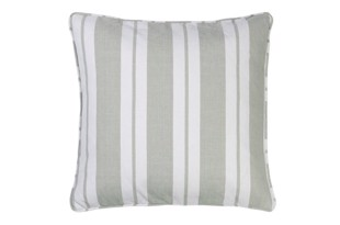 Nordic striped cotton pude 50x50 cm Moss fra Cozy Living